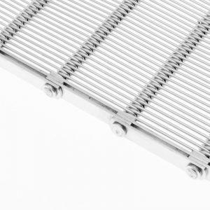 Bandas transportadoras metálicas de malla gancho (CMG, CMG-VE)